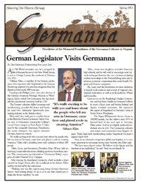 Germanna Foundation Newsletter, Spring 2011