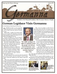 Germanna Foundation Newsletter, Spring 2011