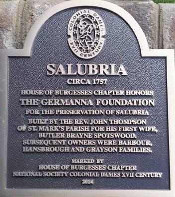 Salubria Historic Marker