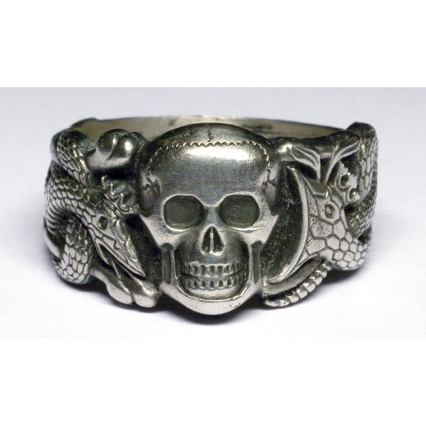WW II German Ring with Skull and Snakes  Germanrings