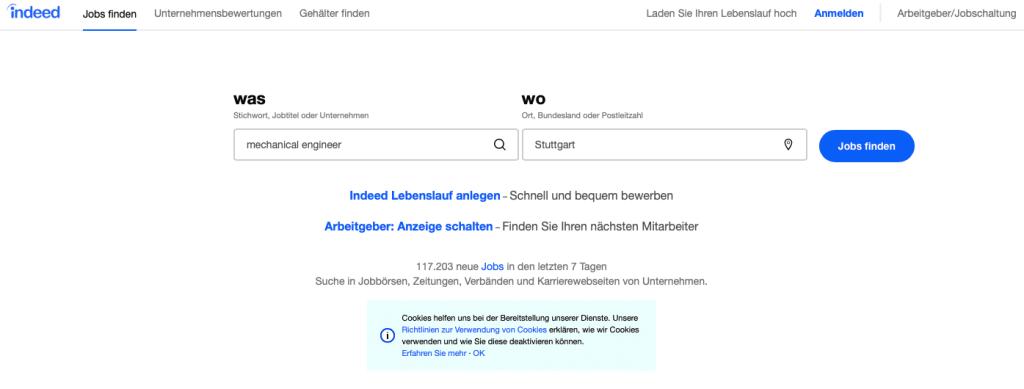 موقع انديد للبحث عن وظائف فى ألمانيا