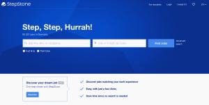 واجهة موقع StepStone للبحث عن الوظائف فى ألمانيا