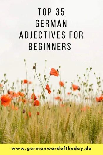 top German adjectives for beginners