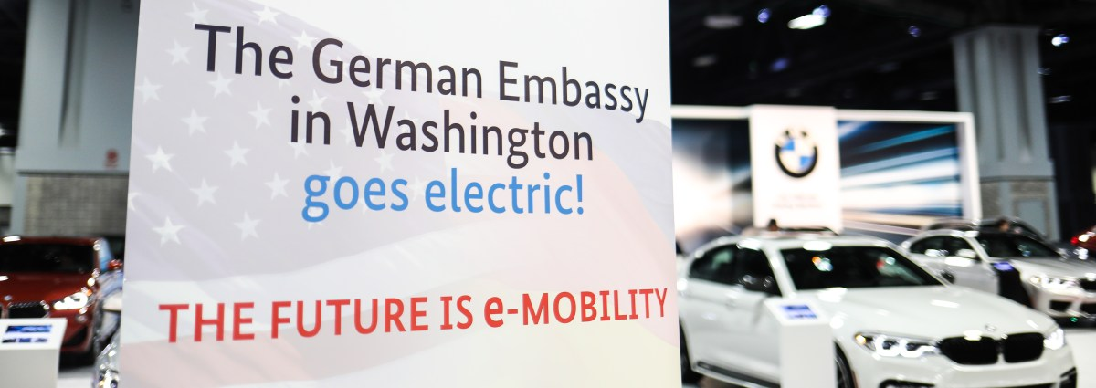 German Embassy endorses e-mobility at Washington Auto Show