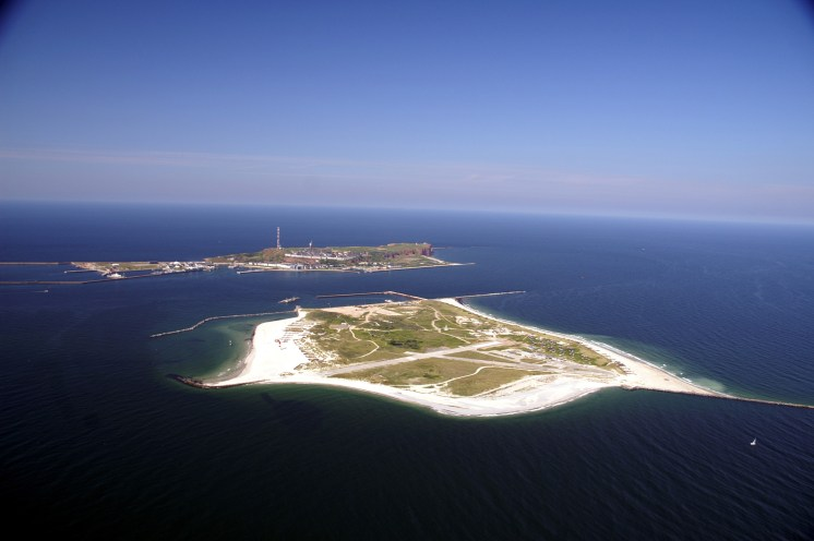 Helgoland from the air