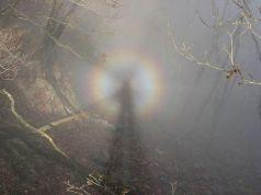 Brocken spectre, Harz Mountains pic Tanzawa Wikimedia