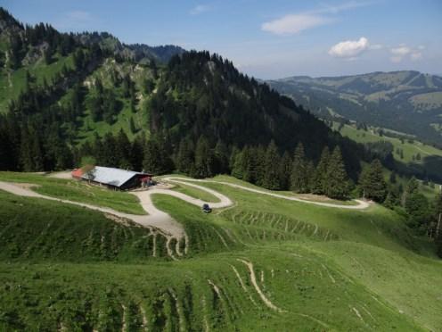 The hills around Oberstaufen, great walking and skiing