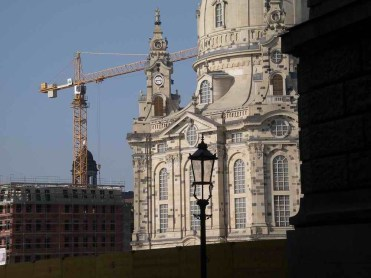 The Frauenkirche in Dresden, painstakingly rebuilt.