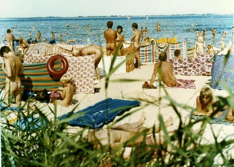 An FKK beach on the Baltic coast