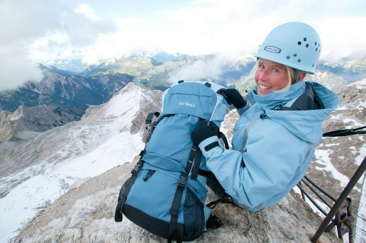 Girl mountaineer Bavaria
