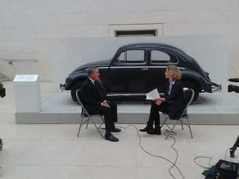 A Beetle in the British Museum, at the opening of Germany Memories of a Nation