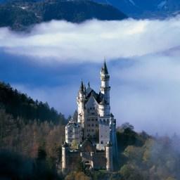 Neuschwanstein with cloud