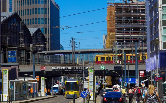 S-Bahn at Friedrichstrasse Berlin