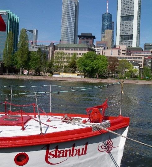 Turkish boat in Frankfurt. AE