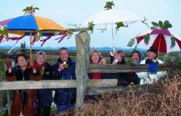 Cabbage walk (Kohlfahrt) group in fine spirits