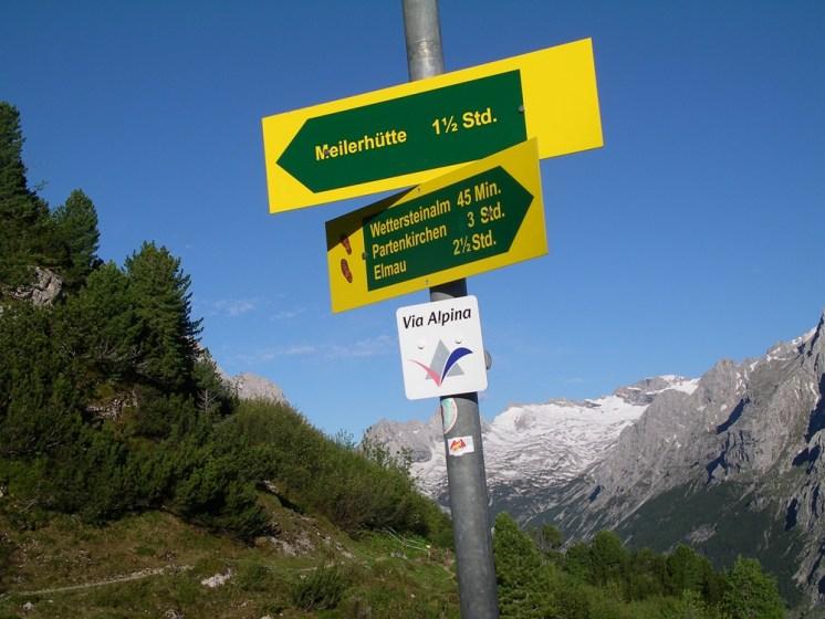Hut sign up by Zugspitze Bavaria