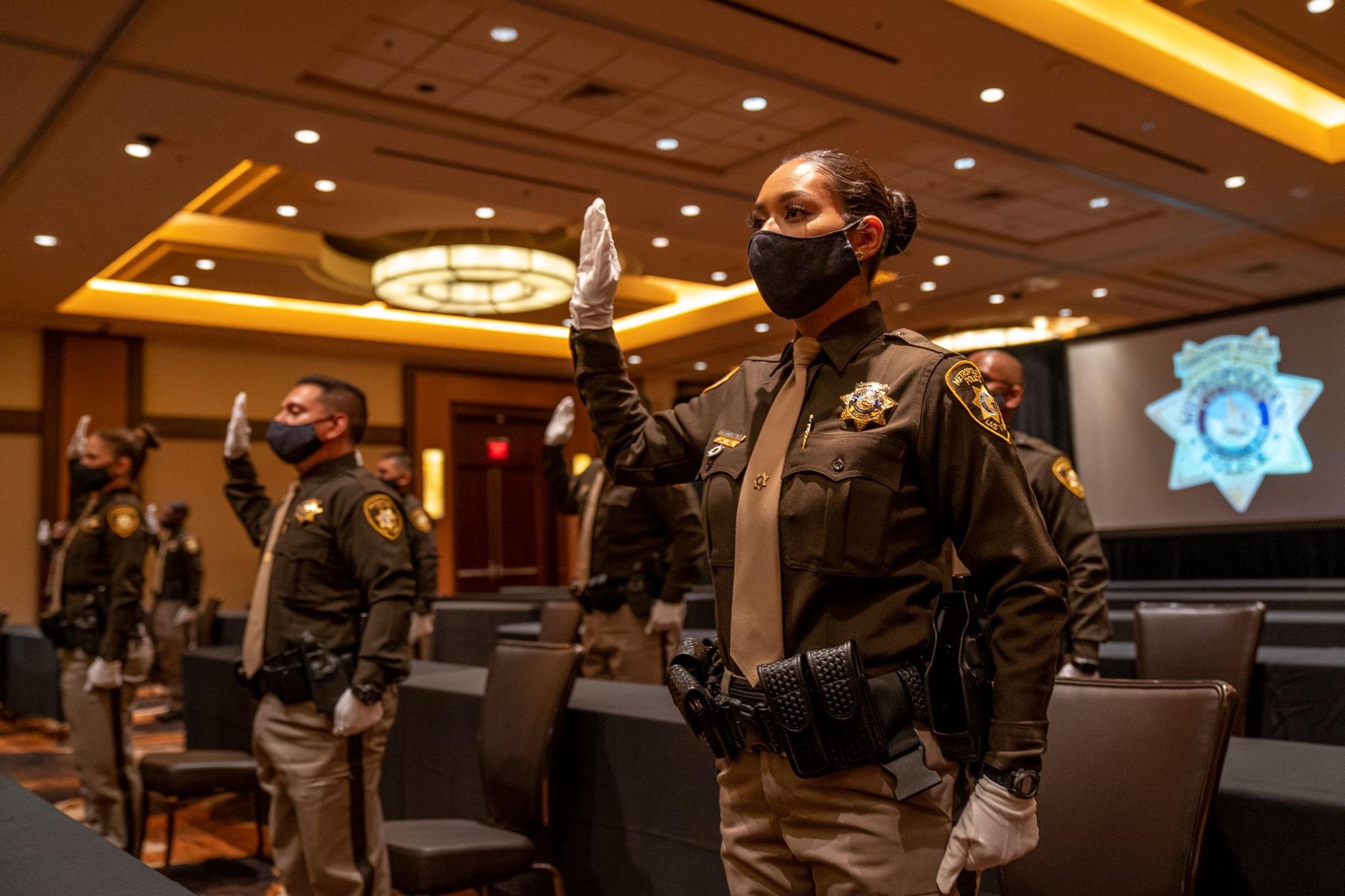 Las Vegas Metro Police Officers in Masks LVMPD