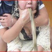 ゲロセックスで女性が大量に嘔吐します☆滝ゲロイッパイ♪