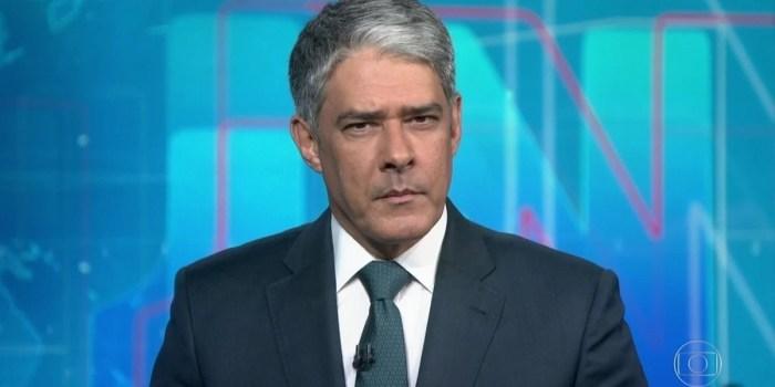 William Bonner no Jornal Nacional, principal atração da Globo; Cade investiga a emissora (Foto: Reprodução/Globo)