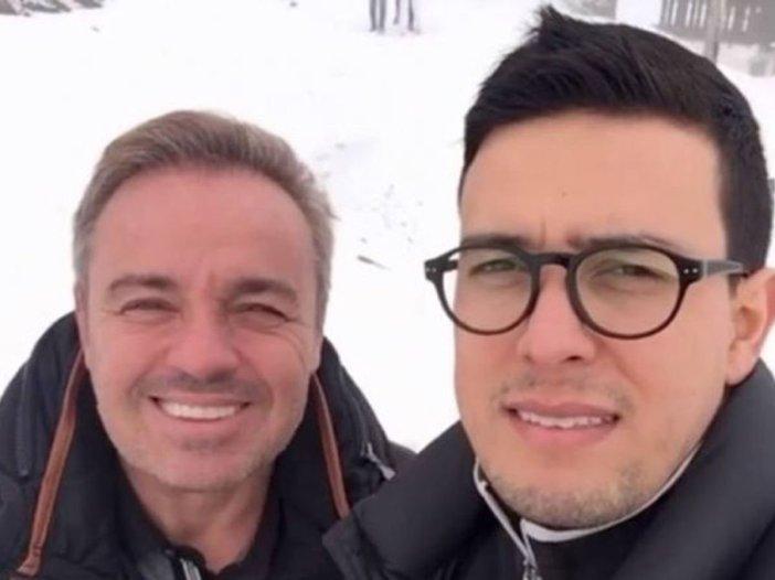 Gugu Liberato e Thiago Salvático em viagem (Foto: Reprodução)