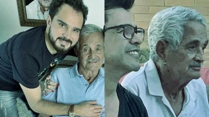 Seu Francisco com Luciano Camargo e Zezé di Camargo (Foto: Reprodução)
