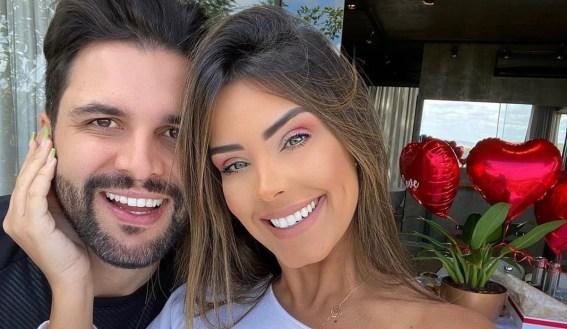 Ivy e Rogério antes do cancelamento do casamento (Foto: Reprodução)