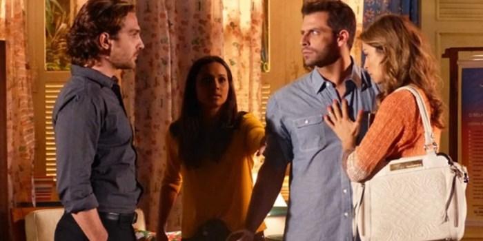 Clima fica tenso entre Alberto e Cassiano, e Ester se desespera em Flor do Caribe (Foto: Reprodução/Globo)