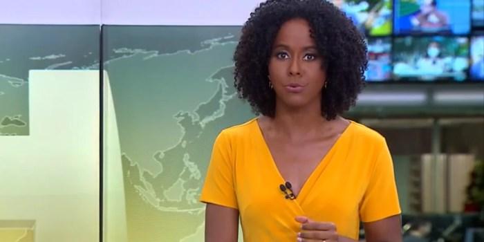 Maju Coutinho no comando do Jornal Hoje, que desabou a audiência (Foto: Reprodução/Globo)