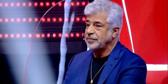 Lulu Santos durante o The Voice Brasil (Foto: Reprodução/Globo)