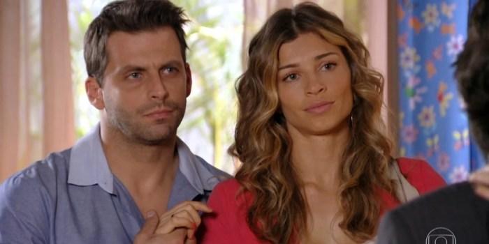Henri Castelli (Cassiano) e Grazi Massafera (Ester) em Flor do Caribe, que ficou em segundo lugar no ibope (Foto: Reprodução/TV Globo)