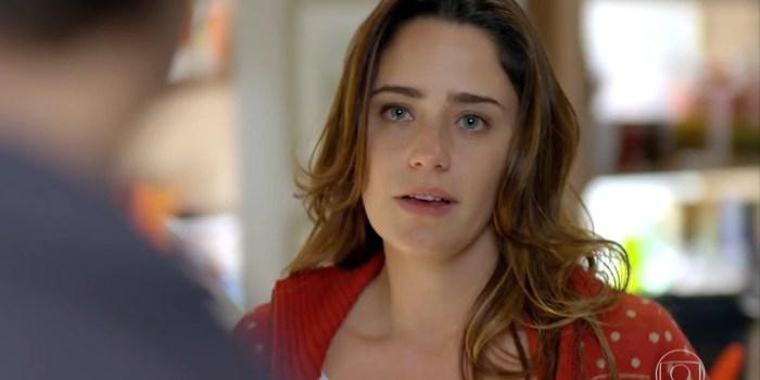 Ana (Fernanda Vasconcellos) vai abandonar Rodrigo (Rafael Cardoso) e irá embora em A Vida da Gente (Foto: Reprodução/TV Globo)