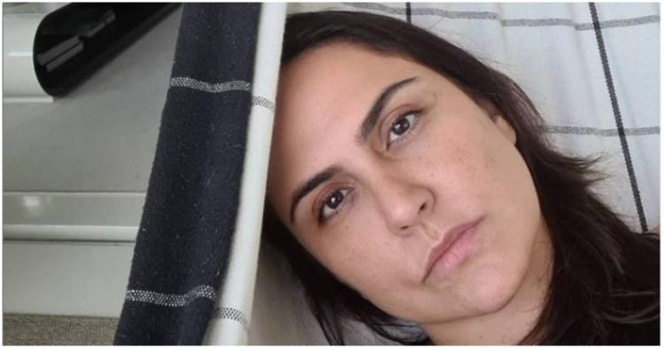Carla Cecato usou as redes sociais para expor melhora do seu marido (Foto: Reprodução)