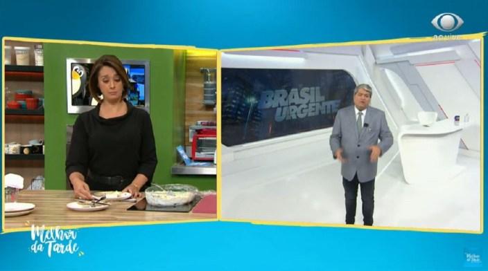 Datena falou com Cátia Fonseca (Foto: Reprodução)