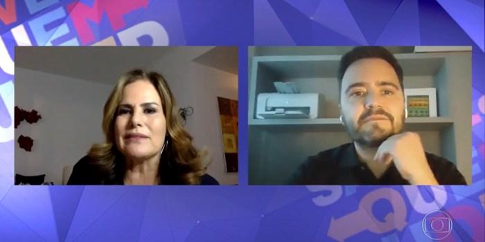 Renata Ceribelli entrevista Daniel Ortiz no Fantástico (Foto: Reprodução/TV Globo)