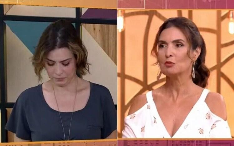 Michelle Loreto se emociona durante matinal de Fátima Bernardes na Globo (Foto: Reprodução)