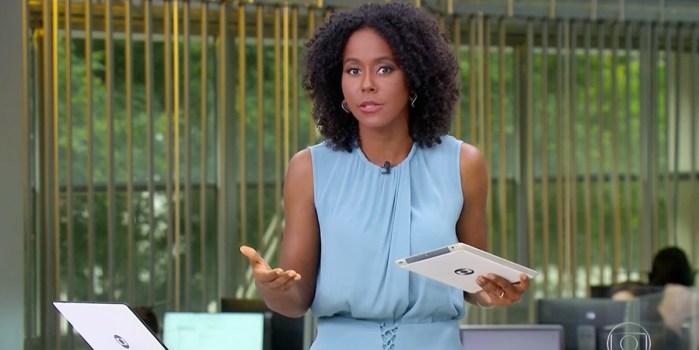 Maju é colega de Renata Vasconcellos (Foto: Reprodução/TV Globo)
