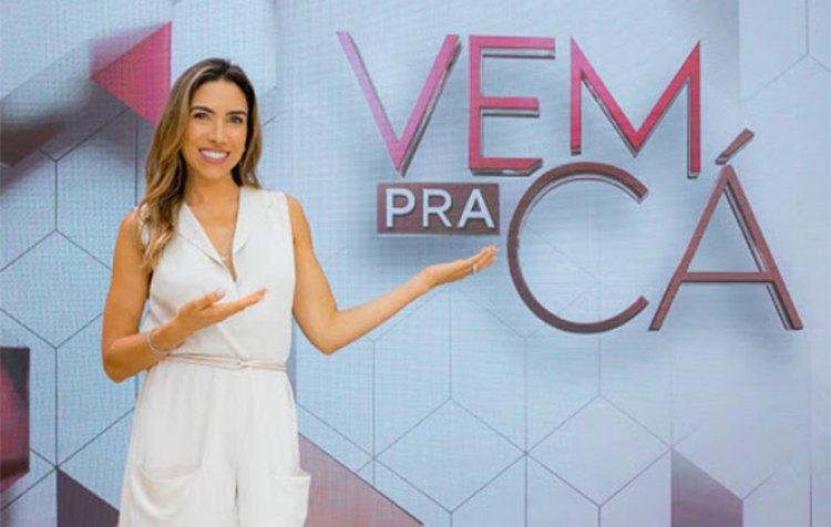 """""""Vem Pra Cá"""" é comandado por Patrícia Abravanel e Gabriel Cartolano (Foto: Reprodução)"""