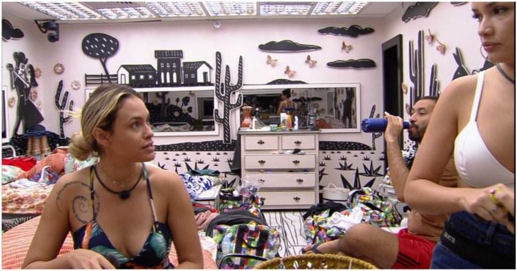Sarah detona sister em conversa com Juliette e Gilberto no BBB21 (Foto: Globoplay)
