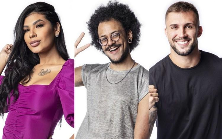 Enquete BBB21: Pocah, João e Arthur, quem sai? (Foto: Divulgação)