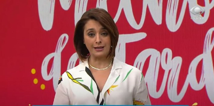 Cátia Fonseca no Melhor da Tarde da Band (Foto: Reprodução)