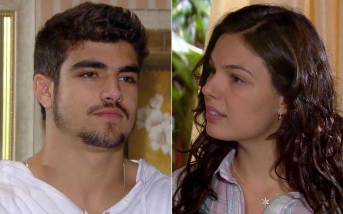 Marcela e Edgar em Ti-Ti-Ti (Foto: Reprodução)