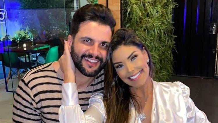 Ivy Moraes e seu ex-noivo Rogério Fernandes (Foto: Reprodução)
