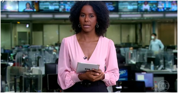Maju Coutinho invadiu a programação da Globo com o Jornal Hoje e foi ridicularizada (Foto: Reprodução)