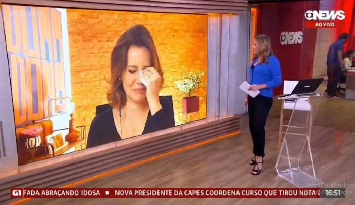 Natuza Nery não segurou a emoção na Globo News (Foto: Reprodução)