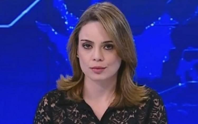 Rachel Sheherazade, enquanto apresentava o SBT Brasil, principal telejornal da emissora (Foto: Reprodução)