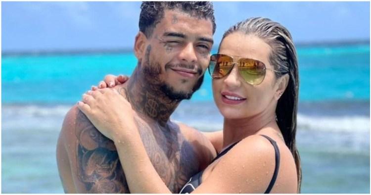 Deolane Bezerra ao lado de MC Kevin, os dois haviam casado há menos de um mês (Foto: Reprodução)