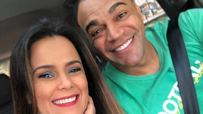 Luciele Di Camargo e Denilson (Foto: Reprodução)