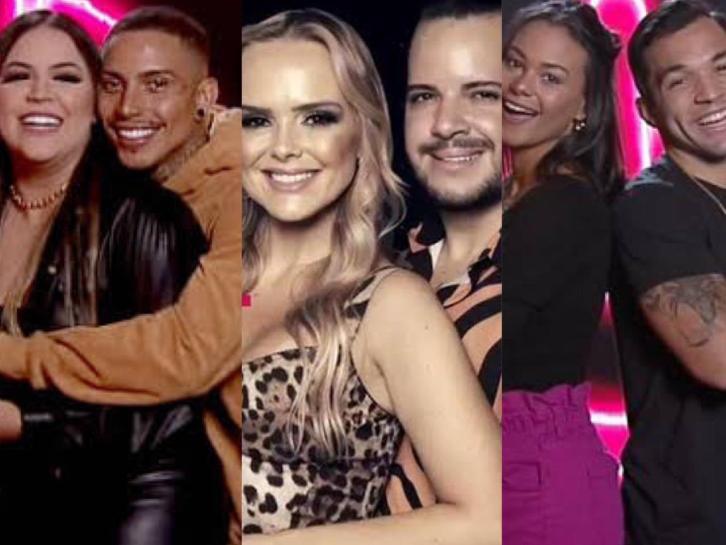 Mari e Matheus, Nina e Felipe e Carol e Jonjon estão na Enquete Power Couple; vote para quem deve ficar
