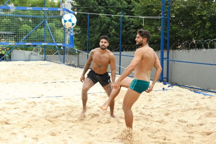 Arcrebiano e André Martinelli jogando (Foto: AgNews/Lucas Ramos)
