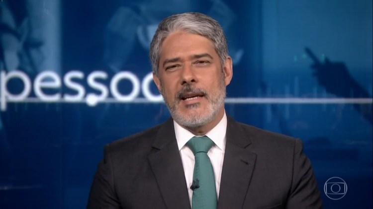 William Bonner anuncia nova campanha da Globo sobre áudios de jornalistas (Foto: Reprodução)